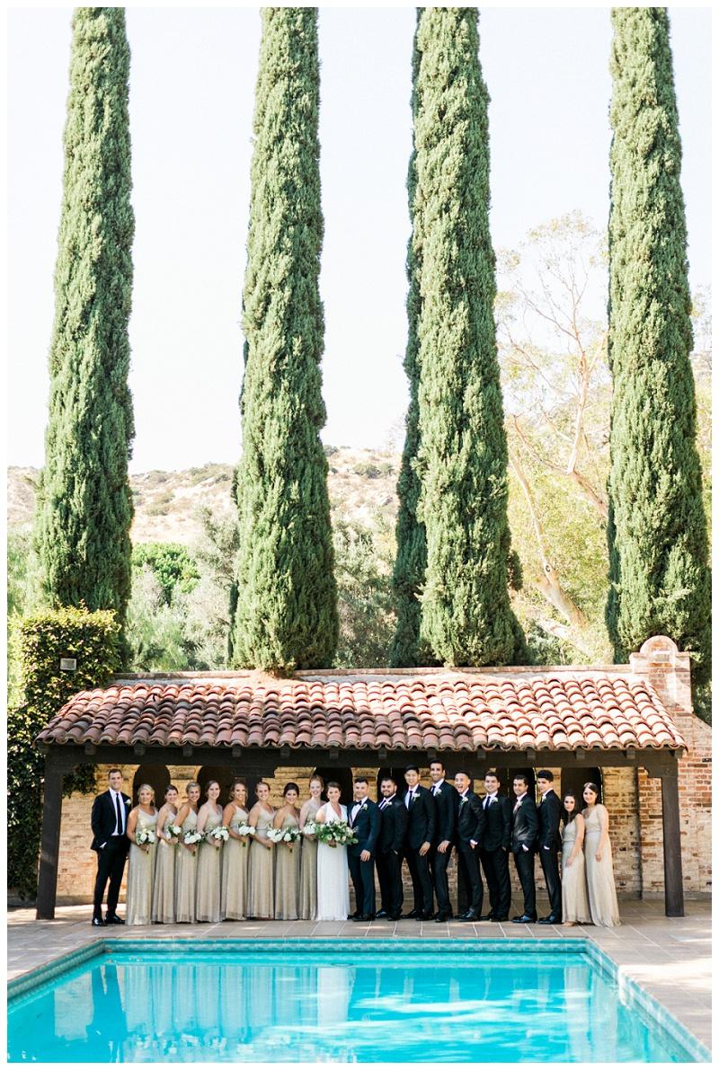 bridal party, formal wedding, california