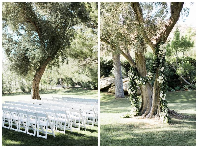 wedding ceremony at hummingbird nest ranch