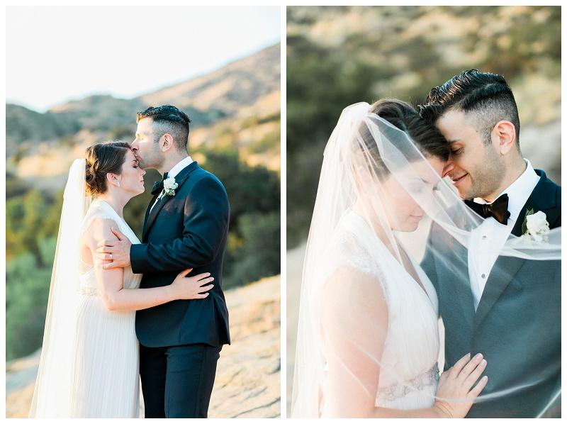 sunset portraits on wedding