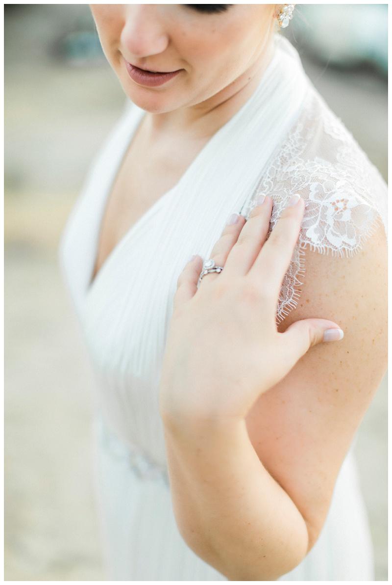 bride portrait details