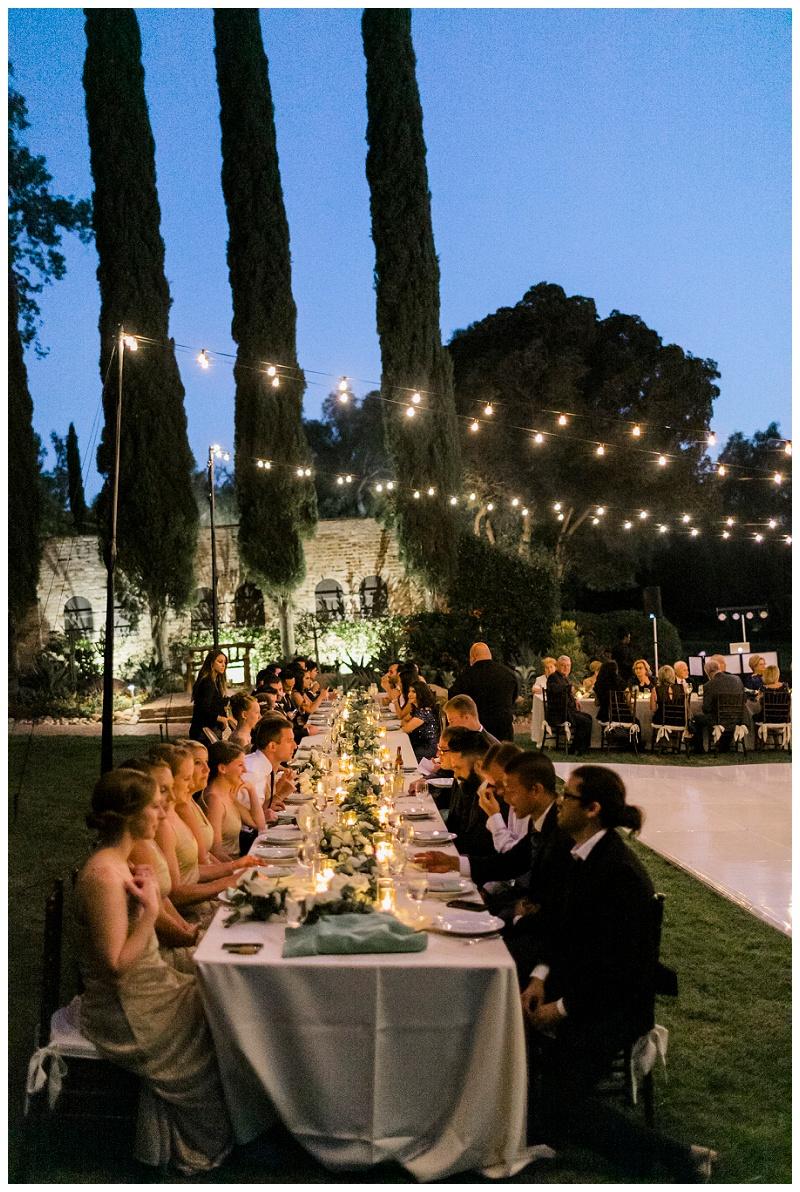 evening reception outdoors california hummingbird