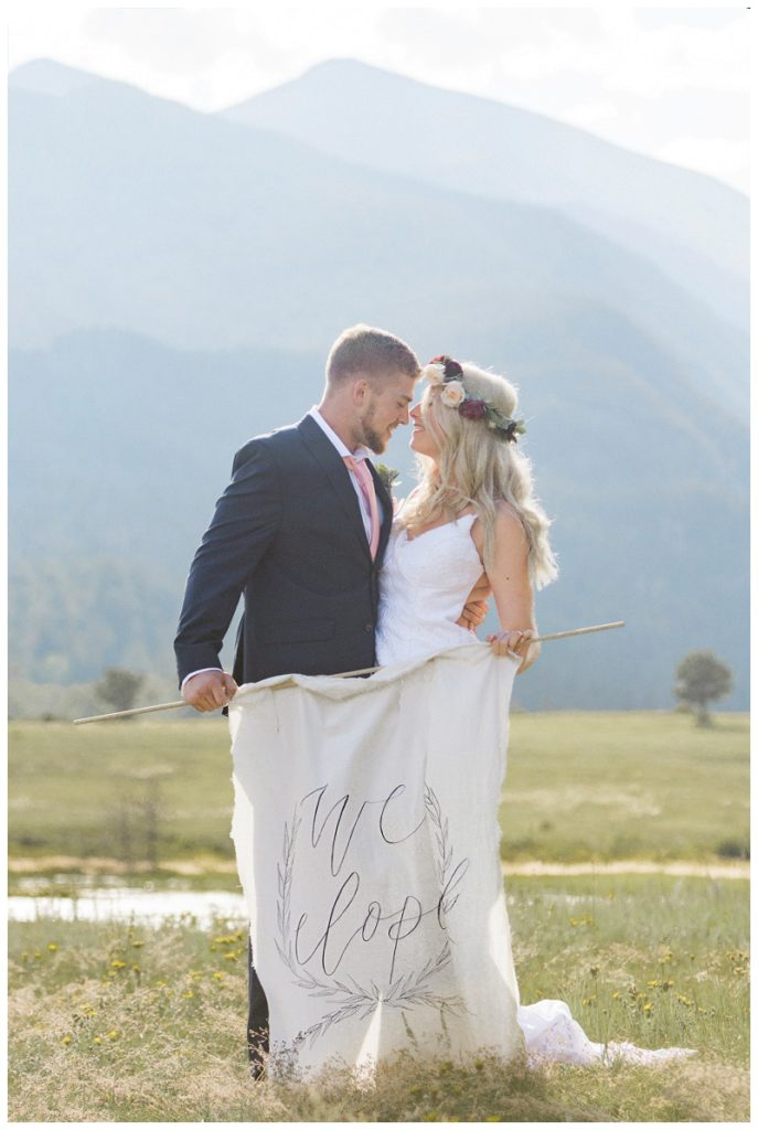 eloped sign in rocky mountains colorado