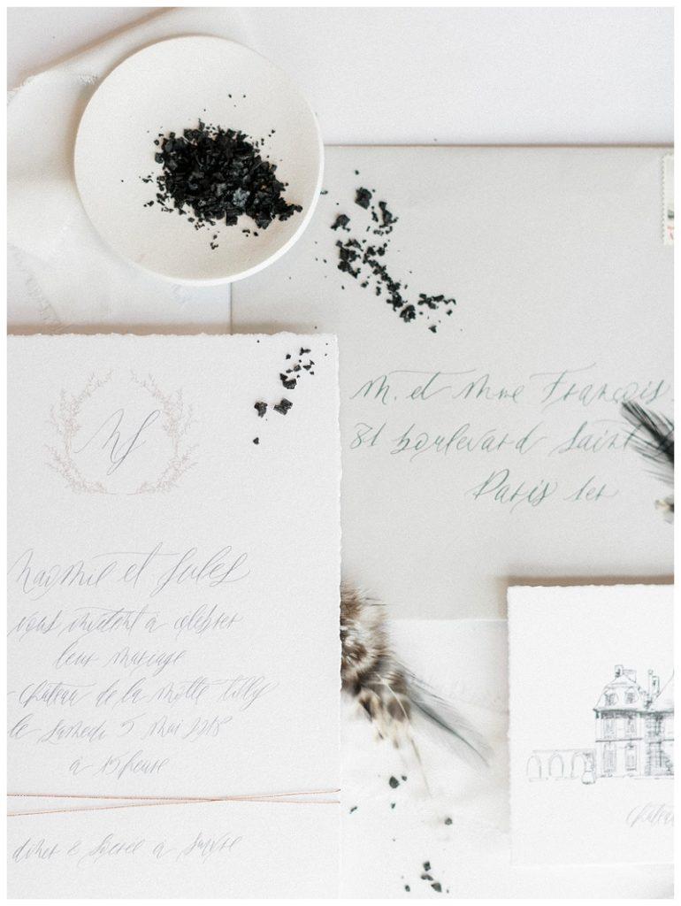 wedding invitation silent word suite