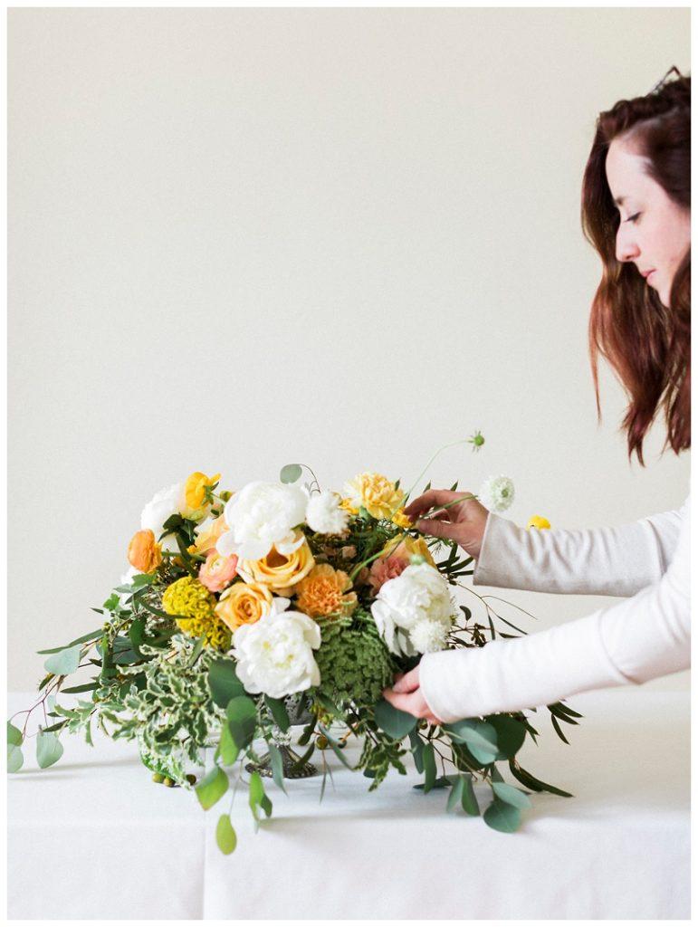 yellow flowers wedding bouquet
