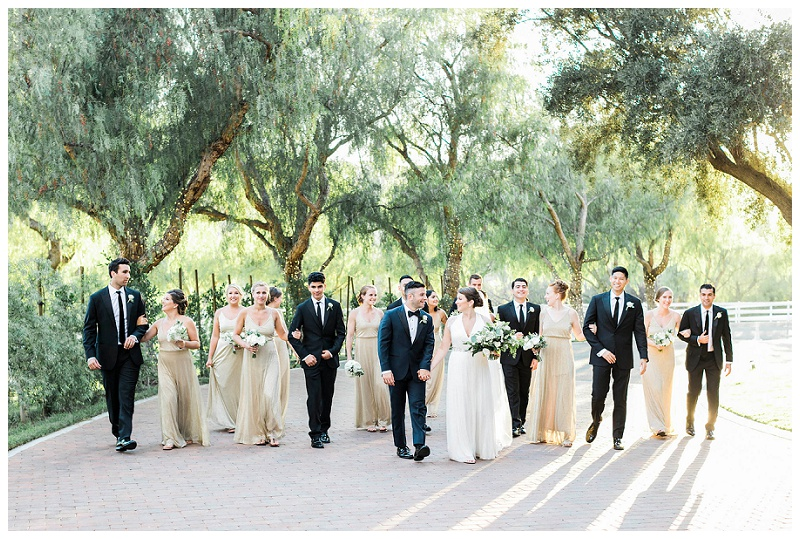 bridal party golden hour simi valley hummingbrid nest ranch ca