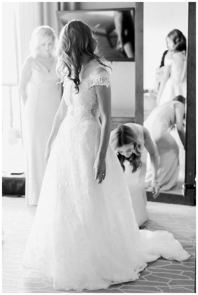 Beaver creek wedding, black and white Ritz-Carlton, Bachelor Gulch wedding dress