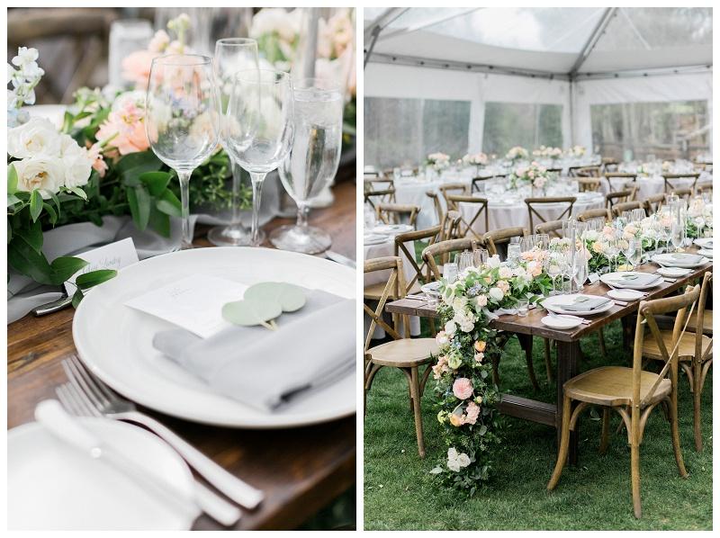 outdoor reception Ritz-Carlton, Bachelor Gulch
