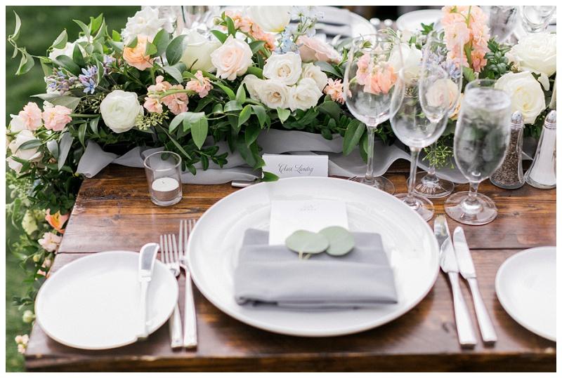 place setting tablescape wedding outdoor Ritz-Carlton, Bachelor Gulch Colorado Beaver Creek