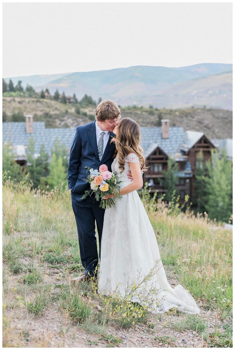 couple Ritz-Carlton, Bachelor Gulch wedding colorado photo