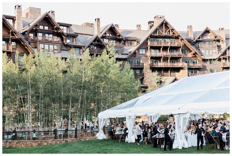 Ritz-Carlton, Bachelor Gulch outdoor wedding reception marquee tent summer photographer
