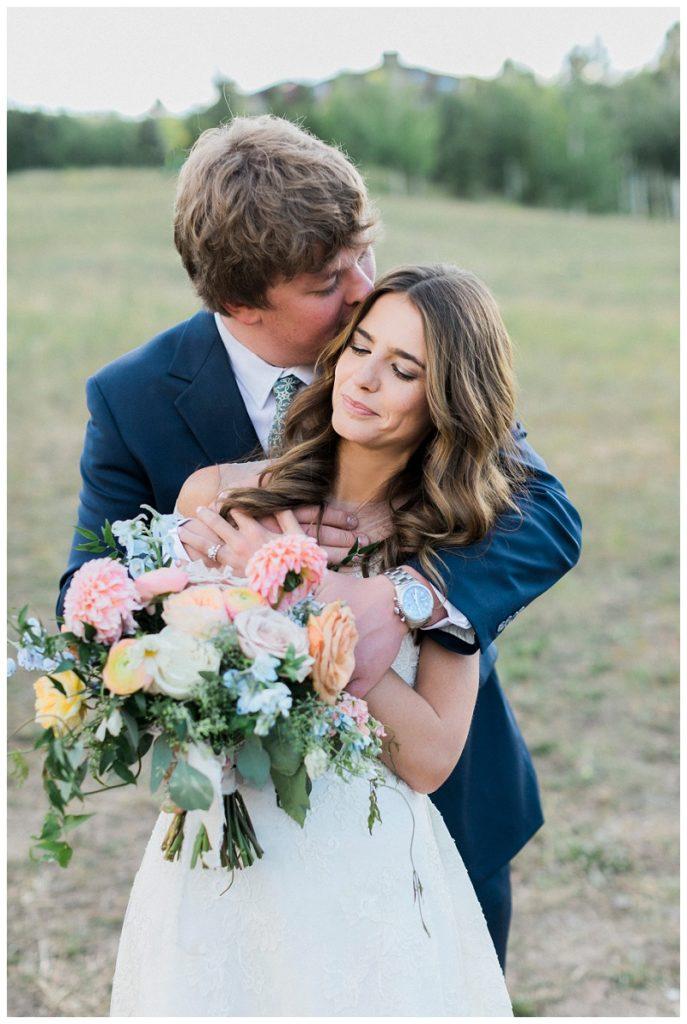wedding portrait Ritz-Carlton, Bachelor Gulch summer wedding