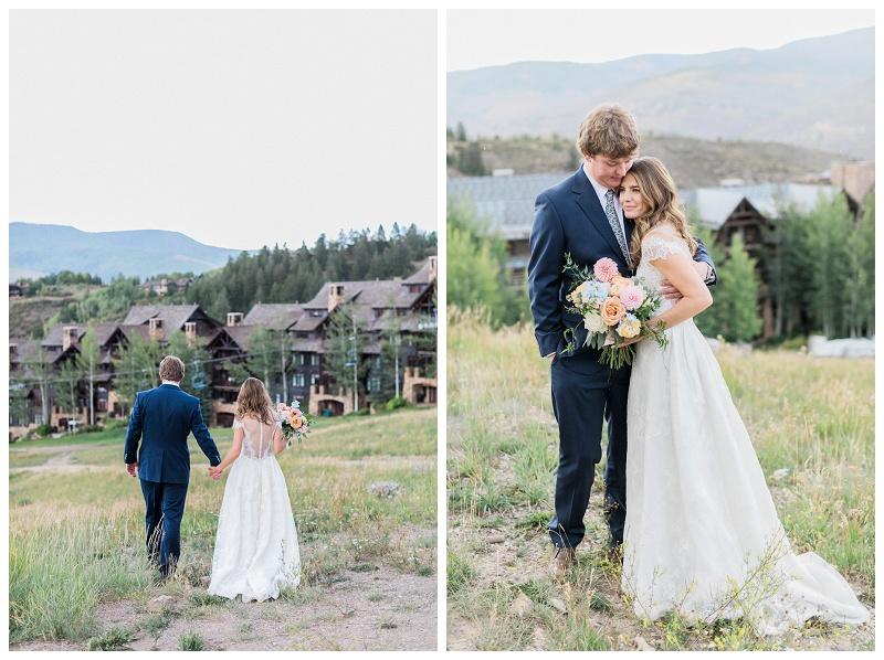beaver creek wedding couple bride and groom kisses colorado