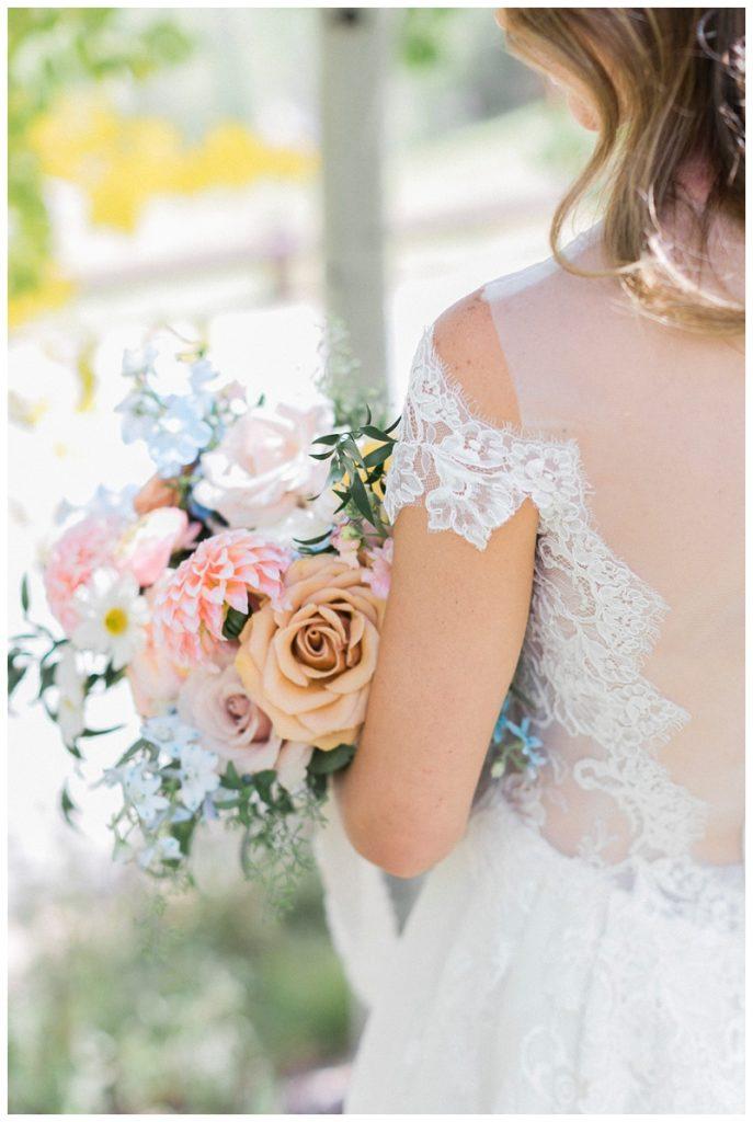 bride bouquet beaver creek chapel colorado wedding details