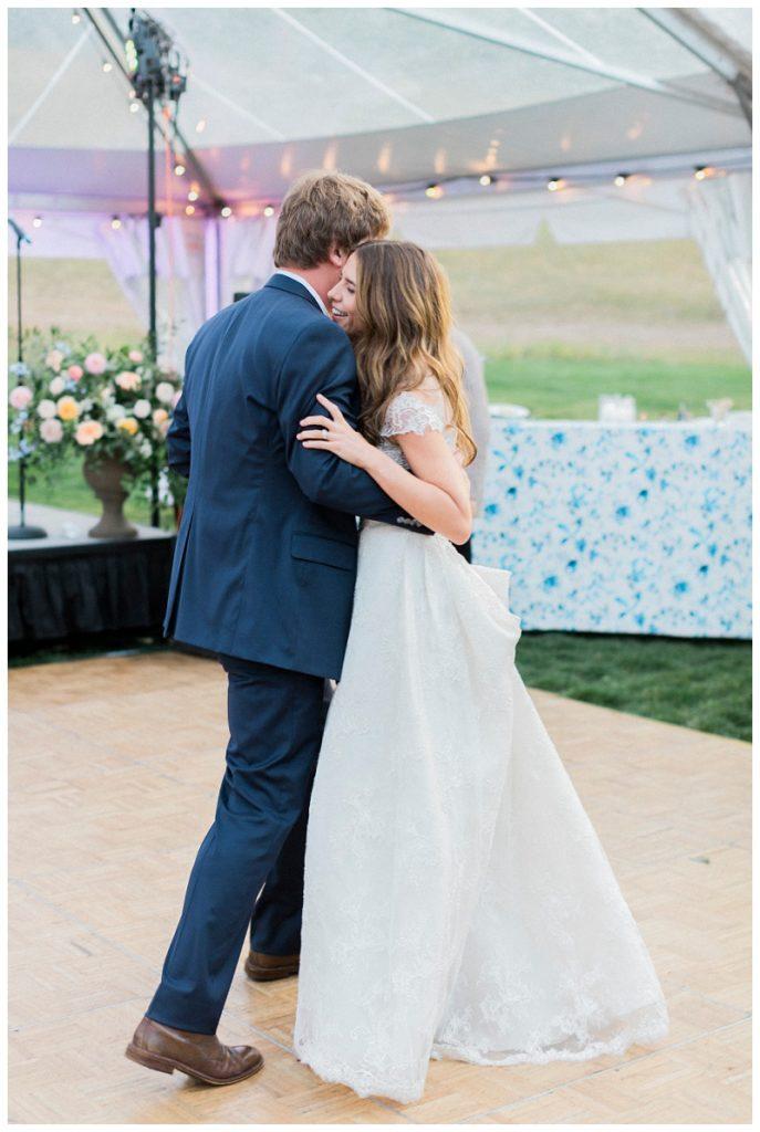 first dance beaver creek wedding Ritz-Carlton, Bachelor Gulch marquee tent