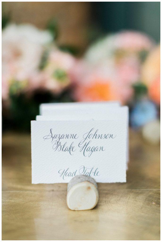 seating chart, place card reception Ritz-Carlton, Bachelor Gulch wedding photography colorado
