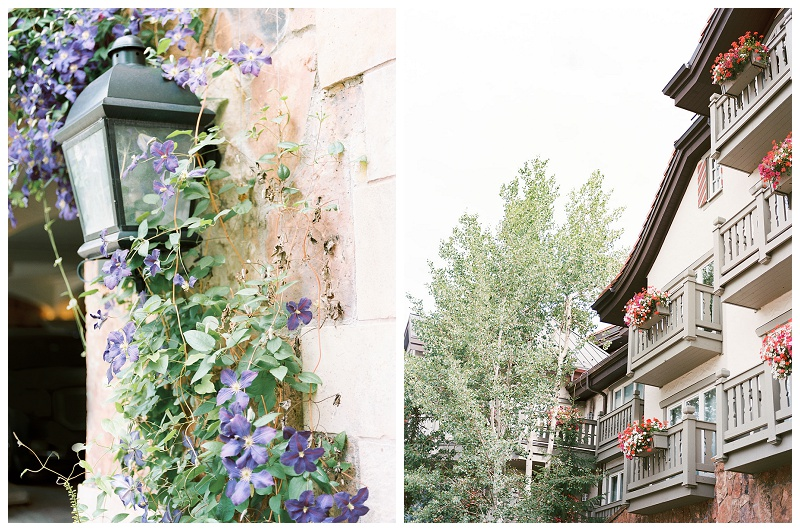 details of the Sonnenalp hotel in Vail Colorado