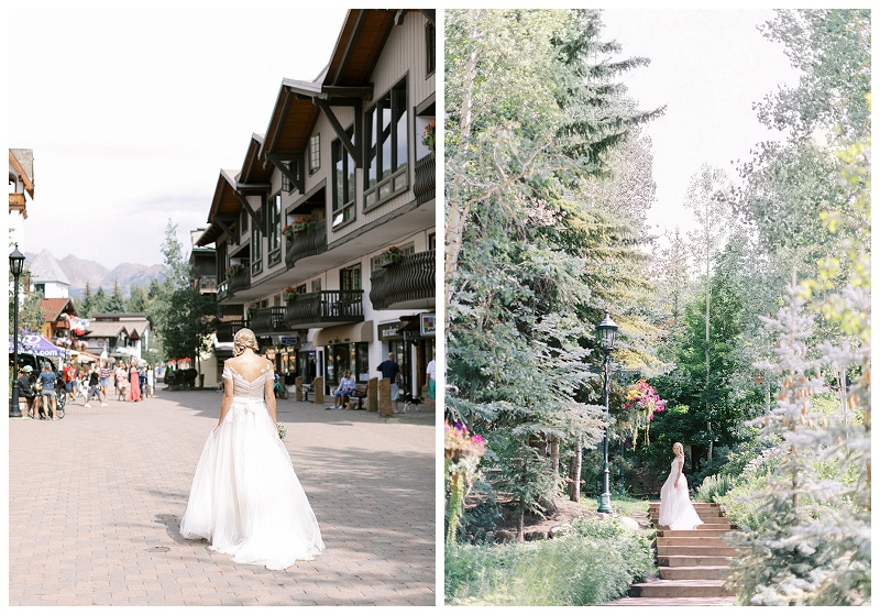 bridal portraits in Vail Colorado
